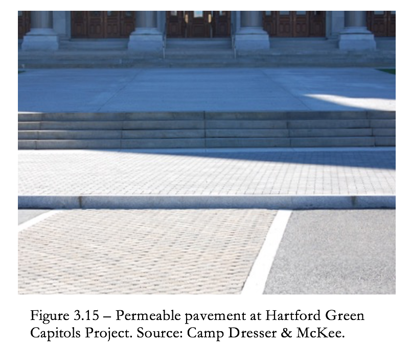 Figure 3.15 - permeable pavement at Hartford Green Capitols Project