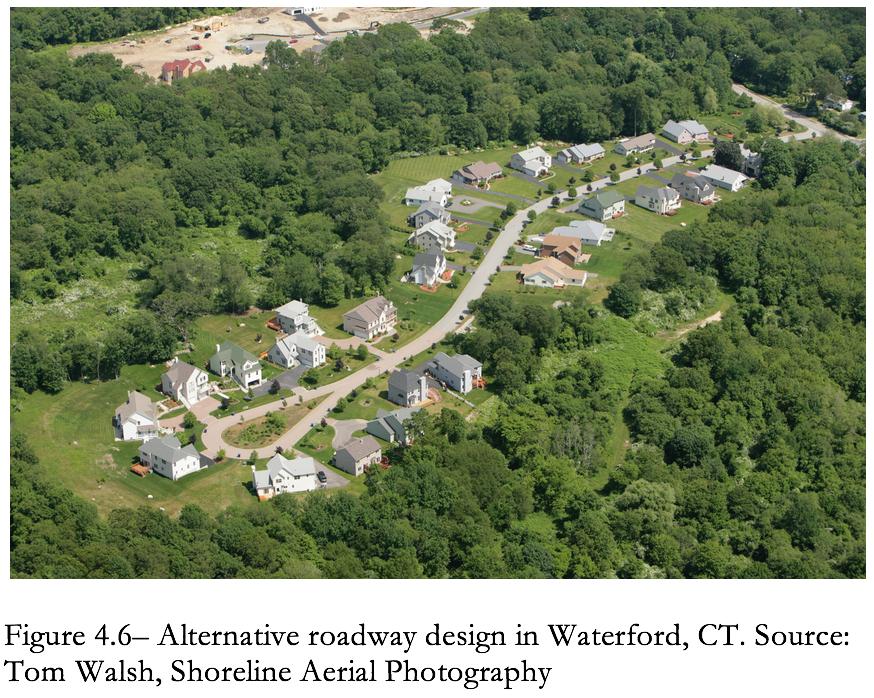Figure 4.6 Alternative Roadway design in Waterford, CT
