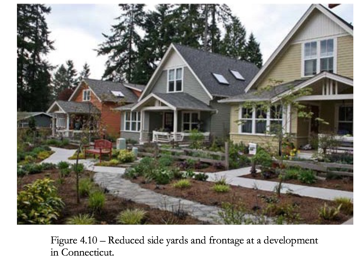 Figure 4.10 Reduced side yards and frontage at a development in Connecticut
